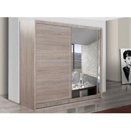 Šatní skříň s posuvnými dveřmi WISTA 203, dub sonoma