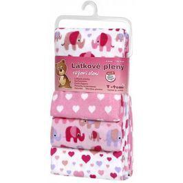 T-tomi Látkové pleny 4 ks, růžoví sloni
