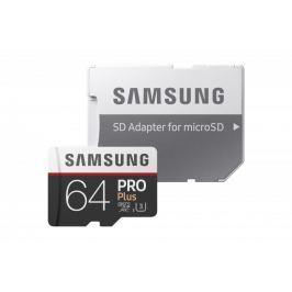 Samsung micro SDXC 64GB PRO Plus + SD adaptér (MB-MD64GA/EU)