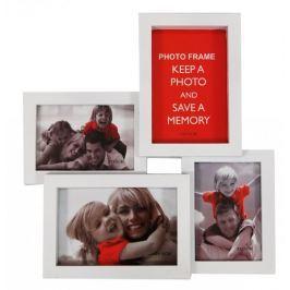 Postershop Fotorám – 4 okna černý 10x15