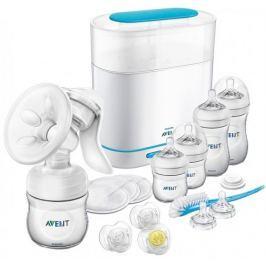 Philips Avent Sada manuální odsávačka + sterilizátor elektrický