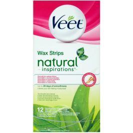 Veet Natural Inspirations Voskové pásky Aloe vera 12 ks