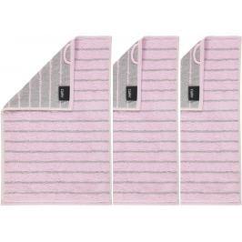 Cawö Frottier ručník Casual, Allover, 3 ks růžová