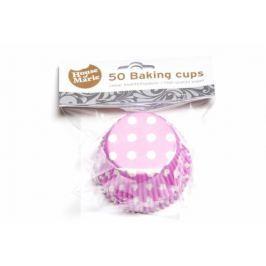 House of Marie Papírový košíček na muffiny růžový puntíkovaný 50ks
