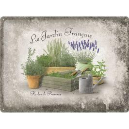 Postershop Plechová cedule 30x40 cm Le Jardin Francais