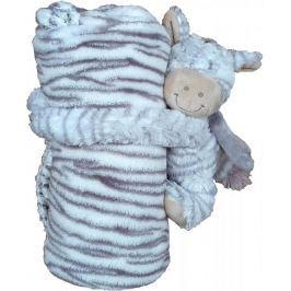Home Dětská deka s plyšovým zvířátkem zebra