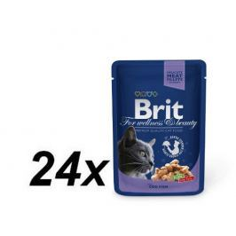 Brit Premium Cat Pouches with Cod Fish 24 x 100g