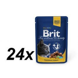 Brit Premium Cat Pouches with Chicken & Turkey 24 x 100g