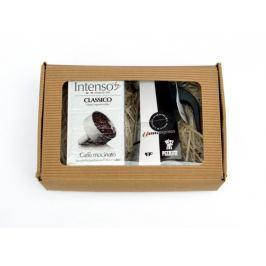 Pezzetti Dárkový set - konvička SteelExpress + Intenso Classico 250g