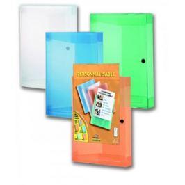 Box na spisy s průhlednou kapsou A4 hřbet 42 mm mix barev