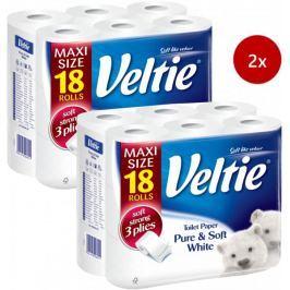 Veltie Delicately White Toaletní papír 2x 18 rolí