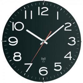 TFA Analogové nástěnné DCF hodiny 30 cm, černá