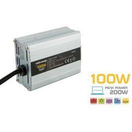 OEM WE Měnič napětí DC/AC 12V / 230V, 100W, USB, mini (06574)