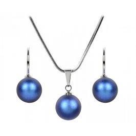 Troli Sada náhrdelníku a náušnic Pearl Iridescent Dark Blue