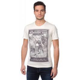 Barbour pánské tričko s potiskem S smetanová