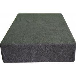 Greno Froté prostěradlo 180 x 200 cm tmavě šedá