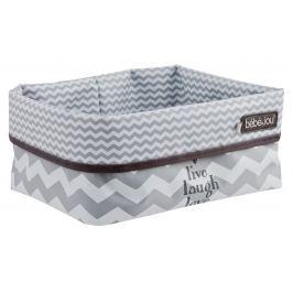 Bebe-jou Textilní košík na kojenecké potřeby, Chevron Grey