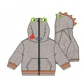 Mix 'n Match chlapecká mikina Dinosaurus 80 šedá