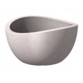 Scheurich Venkovní obal 252 plast, 40cm, Globe Bowl Taupe Granit