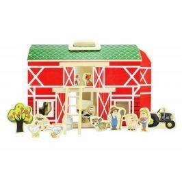 Marionette Farma hrací set 17 součástí, dřevěná