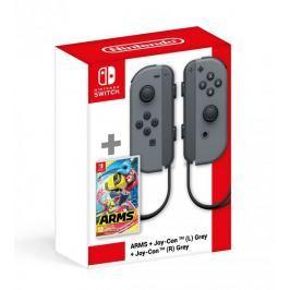 Nintendo SWITCH ARMS + Switch Joy-Con (pár) šedý