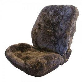 CarPoint Potah sedadla ovčí vlna šedá 1ks - rozbaleno