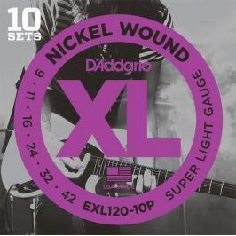 Daddario EXL120-10P Struny pro elektrickou kytaru