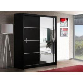 Šatní skříň s posuvnými dveřmi WISTA 150, černá