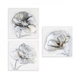Papillon Obraz Flowers 30 cm, olej na plátně, sada 3 ks