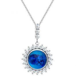 Preciosa Stříbrný náhrdelník Camellia 6106 68 stříbro 925/1000