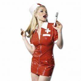 Dámský lakový kostým zdravotní sestra - Lack krankenschwester set (S)