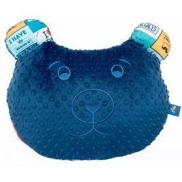 CuddlyZOO Multifunkční polštář Medvěd - táta/modrá