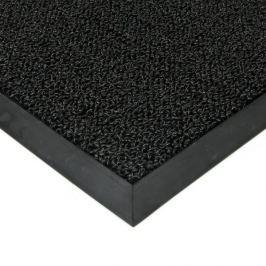 FLOMAT Černá plastová zátěžová vstupní čistící rohož Rita - 200 x 100 x 1 cm