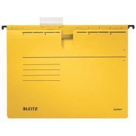 Závěsné desky ALPHA s rychlovazačem žluté