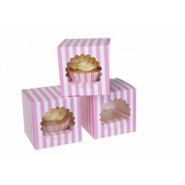 House of Marie Papírový box pruhovaný na cupcake 3ks