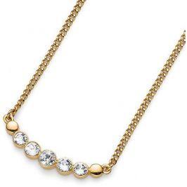 Oliver Weber Pozlacený náhrdelník s krystaly Morning Neutral 11686G