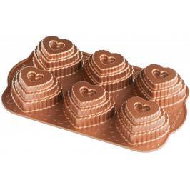 Nordic Ware Vrstvené srdíčko plát, 6 formiček