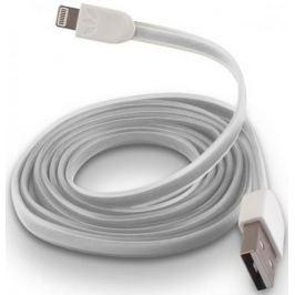 Forever Datový kabel pro Apple Iphone 5, silikonový, bílá