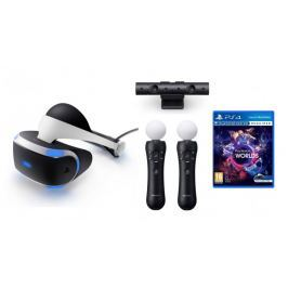 Sony PlayStation VR + Camera V2 + 2x PS Move + VR Worlds