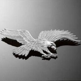 Highway-Hawk emblém samolepící HAWK 230x120mm (orel), chrom