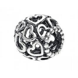 Pandora Stříbrný srdíčkový korálek 790964 stříbro 925/1000