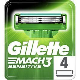 Gillette Mach3 Sensitive holicí havice pro muže 4ks