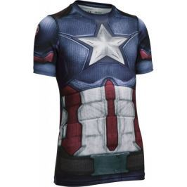 Under Armour Captain America Suit SS Midnight Navy White YL