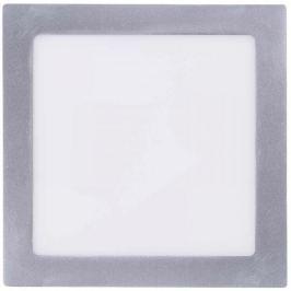 Emos LED přisazené svítidlo čtverec 18W neutrální bílá, stříbrná