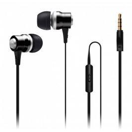 Connect IT Alu Sonics sluchátka do uší EP-222-BK, černá (CI-1040)