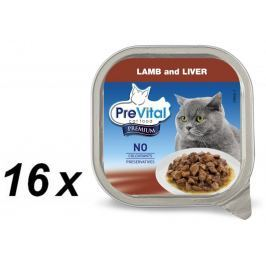 PreVital Premium vanička ragou s jehněčím a játry 16 x 100 g
