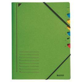 Třídící desky s gumičkou Leitz A4, 7 listů, zelené