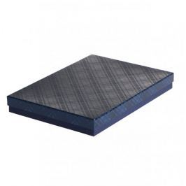 Dárková krabice Ilona II. 2, tmavě modrá kára - 30,5x21x4 cm