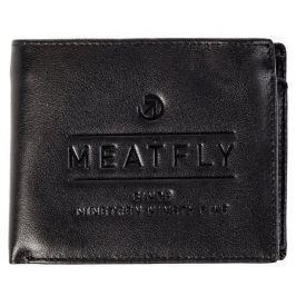 MEATFLY pánská černá peněženka Seaway