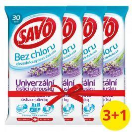 Savo Univerzální čisticí ubrousky Levandule 4 x 30 ks